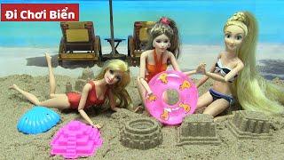 Hướng Dẫn Làm Bãi Biển Đẹp Bằng Cát Động Lực Kinetic Sand/búp bê Barbie - đồ chơi trẻ em