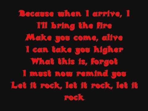 Let it rock [Lyrics]