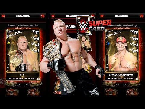 WWE SuperCard Gameplay Ep 9: Card Stat Changes and King of The Ring Rewards!