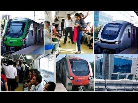 MUMBAI METRO TRAIN RAIL FULL COVERAGE DOCUMENTARY FROM VERSOVA TO GHATKOPAR INDIA 2014 [FULL HD]