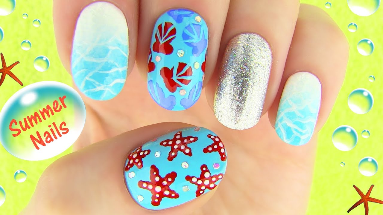 Summer nails youtube Nail design ideas to do at home