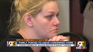 Family forced to leave condemned home