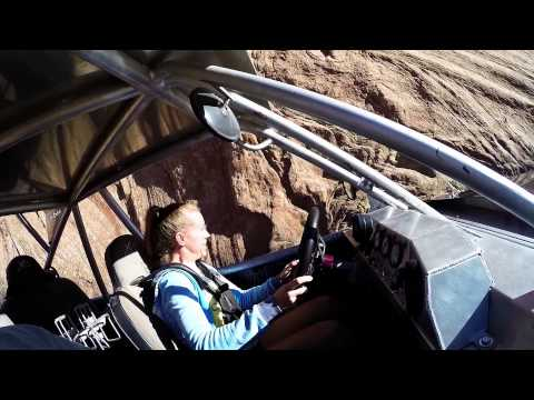 Driving Buggy up Hell's Gate in Moab