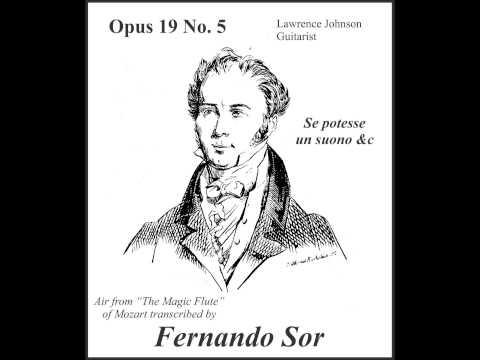 Fernando Sor - Opus 19 No 5 Se Potesse Un Suono