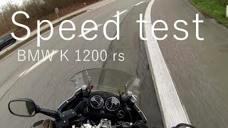 BMW K1200RS/SPEED TEST, 230km/h with GoPro on helmet.