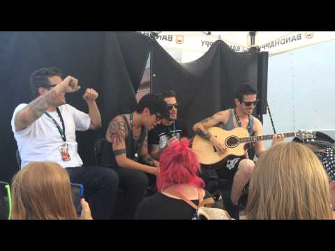 Crown The Empire - Millennia (Acoustic live) Vans Warped Tour Shakopee, MN 7/20/14