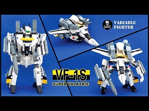 LEGO Cuusoo Macross Valkyrie VF-1S Skull Leader Transformation