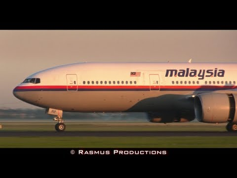Flight MH17 Malaysia Airlines Boeing 777-200ER - Landing at Amsterdam Schiphol Airport!