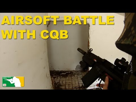 Airsoft Battle with CQB Tokyo Marui G3 SAS High Cycle King Arms M4