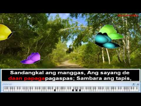 Paru-parong Bukid - Nursery Rhymes | Filipino Folk Song For Children (karaoke) video