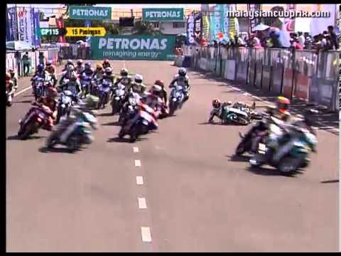 Round 7 Temerloh - Biggest Crashes - PETRONAS Malaysian Cub Prix Championship