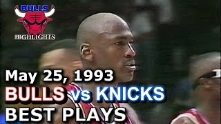1993 Bulls vs Knicks game 2 HD highlights