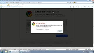 How to remove Browser Update popup virus