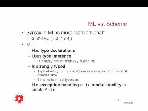 Programming Languages: Standard ML - 1