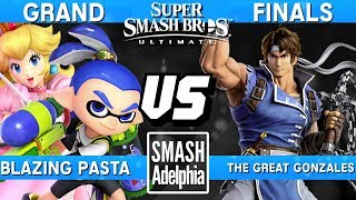 Smash Ultimate Tournament Grand Finals - Pasta (Peach/Inkling) vs Great Gonzales (Richter) - SDA Ult