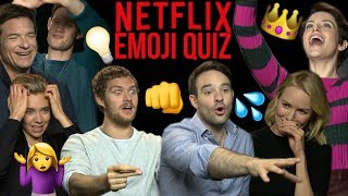 Can Netflix stars guess their own show from Emojis?