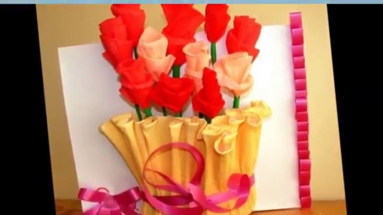 Оригинальные открытки маме с 8 марта своими руками - YouTube