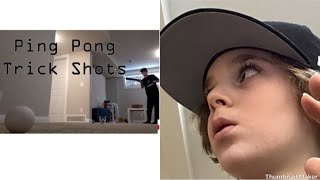 Reacting to PanthersHockey Ping pong trick shots!