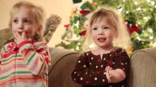 "Christmas song by Kyndall and Kaydence ""Jolly Old Saint Nicholas"""