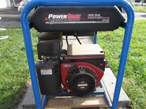 PowerBack 5000 Watt Electric Generator 9HP Briggs