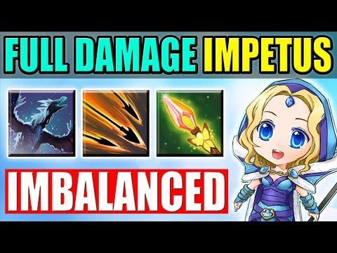 Imba Range IMPETUS Shot [Flying Crystal Maiden] Dota 2 Ability Draft