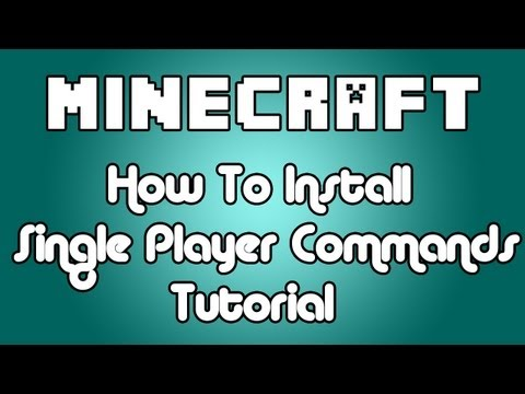 Minecraft 1.5.2 How to Install Single Player Commands Tutorial 1.5.2