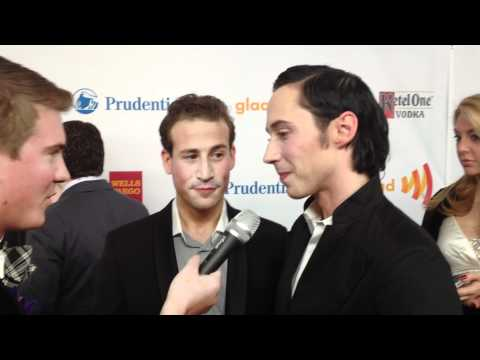 Johnny Weir and Husband Victor Voronov Flash Their Rings, Talk 2014 Olympics
