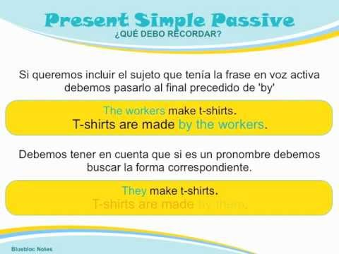 Passive voice in present simple ppt