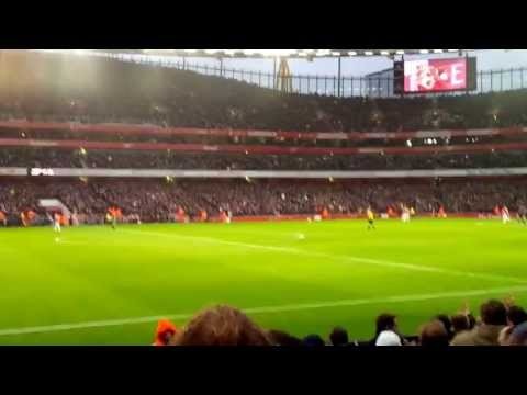 Arsenal first goal vs wigan
