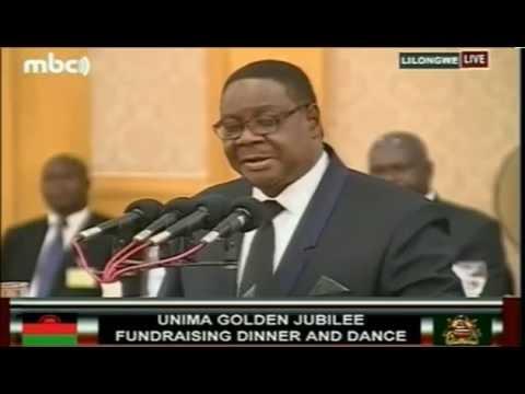 Malawi President Peter Mutharika's Speech at UNIMA@50 Fundraising Dinner -  May 2015