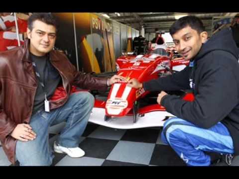 Vikram Ajith Vijay milton Narain Karthikeyan car race