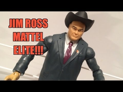 WWE ACTION INSIDER: Jim Ross JR Mattel Elite Wrestling Build A Figure Toy Review