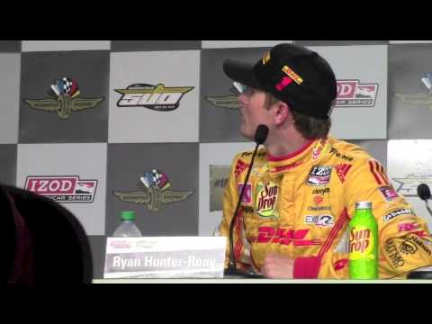 Ryan Hunter-Reay's 2013 Indy 500 Pole Day Press Conference