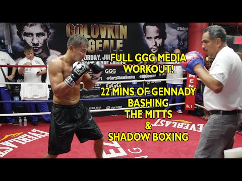 Golovkin vs. Geale: GGG full boxing workout - Hits Mitts & shadow boxes Image 1