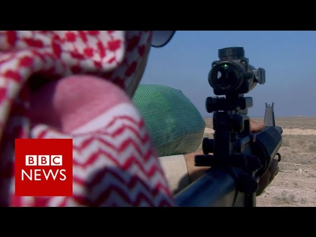 On the frontline of the fight against IS in Iraq  - BBC News