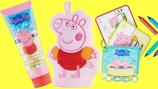 Peppa Pig Bubble Bath Soap, Mitt & Crayons | Toys Unlimited