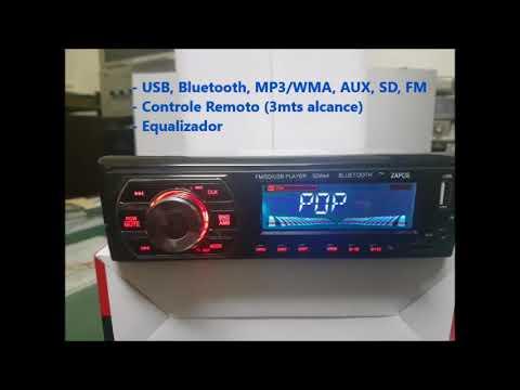 Som Automotivo MP3 Com Bluetooth USB SD FM AUX EQ