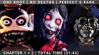 ONE SHOT NO DEATHS PERFECT S RANK RUN | CHAPTER 1+2 DARK DECEPTION