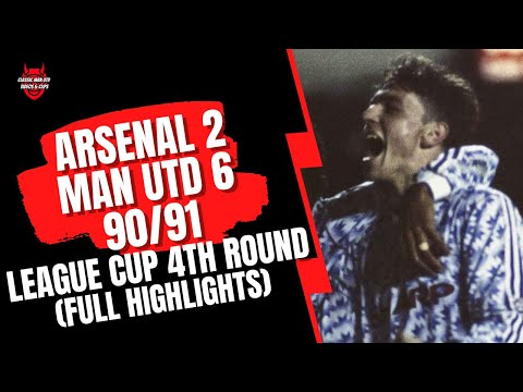 Highlights of the 1990/91 League Cup clash between Manchester United and Arsenal.