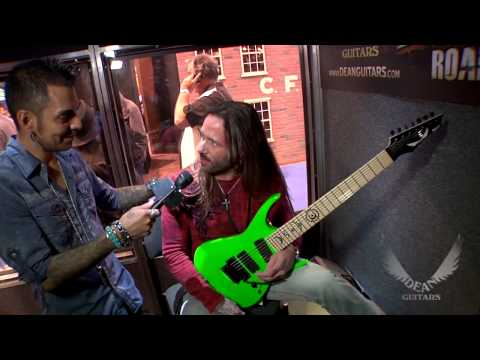 """Rusty Cooley jams on his new """"Nuclear Green"""" Dean RC7 Guitar for the first time!"""
