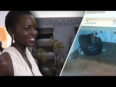 Lupita Nyong'o -- Back to the Hotel ... for Missing Gown