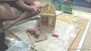 Building Popsicle Cabin Time Lapse