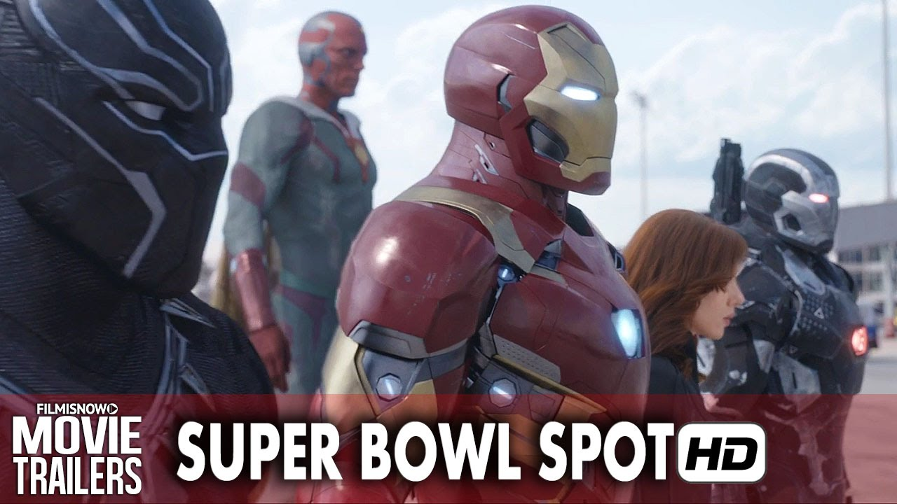 Marvel Heroes become divided in 'Captain America: Civil War' Super Bowl Spot [HD]