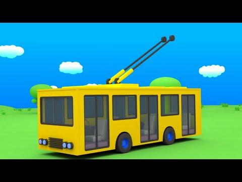Мультик раскраска автобусы