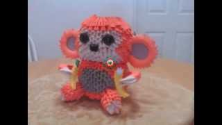3d Origami Monkey