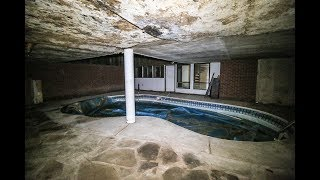 ABANDONED Drug Dealer's 1970s Weird looking House with Indoor Pool & Sauna