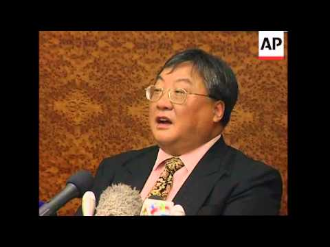 Presser with head of Macau bank accused of helping NKorea to launder money