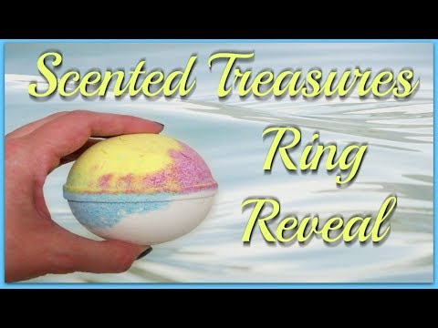 Scented Treasures Ring Reveal  Tropical Breeze Bath Bomb!