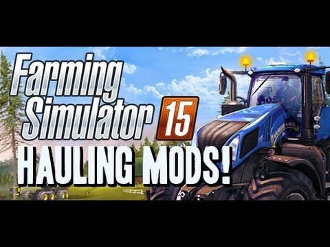 Farming Simulator 2015 Mods - Hauling: TrailTech Lowboy. Kenworth Logging Truck and Trailer