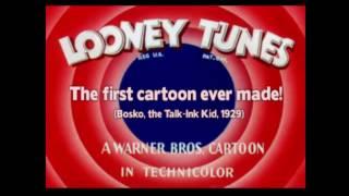 The First Looney Tunes Cartoon Ever Made! Nostalgic cartoons (BOSKO,1929)